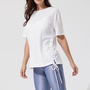 ALO Yoga Blis Lace Up Side Tie Tee